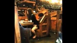 Caught having sex in public restaurant